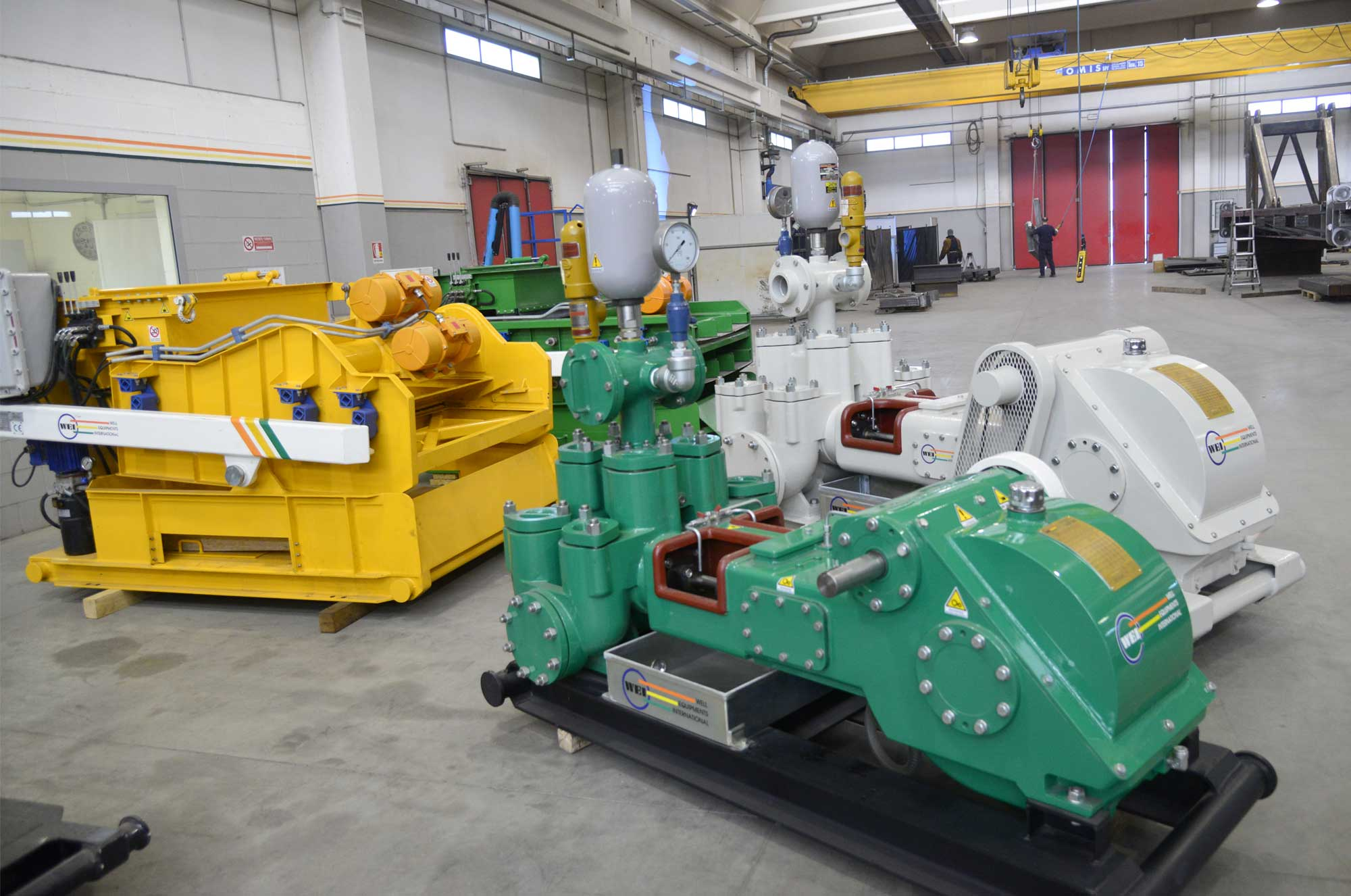 Wei | Well Equipment International - Piacenza, Italy | WEI 6 x 5 DUPLEX DOUBLE - ACTING MUD PUMPS